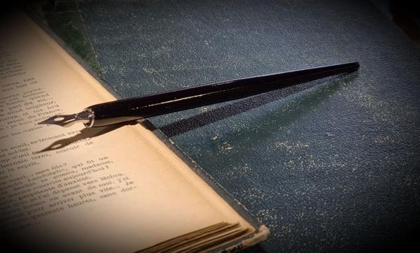 Federhalter mit Schreibefeder fein