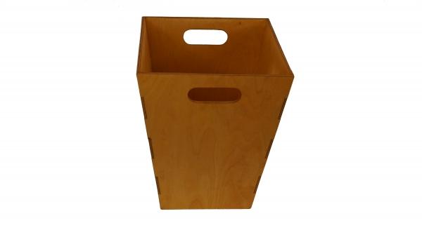 Papierkorb aus Holz