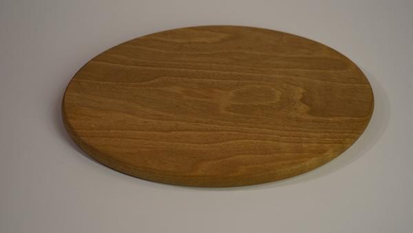 Vesperbrett oval, Nussbaum mit Wurmmarkierung