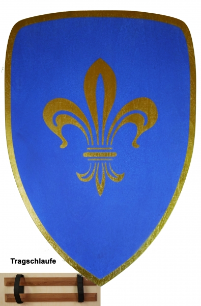Schild, blau
