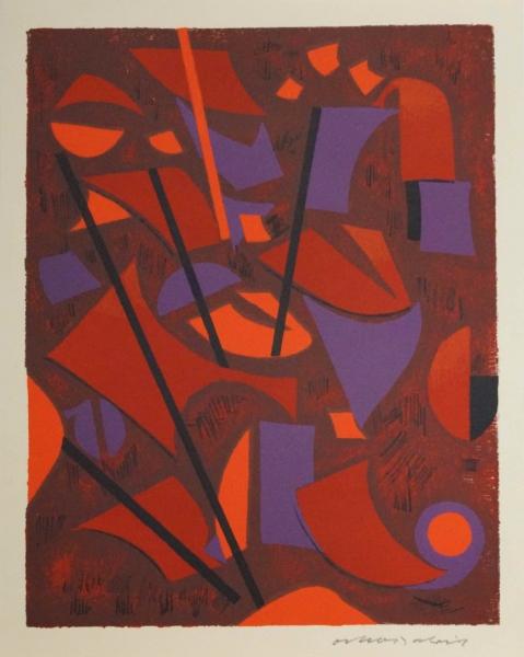 Linolschnitt von Oskar Dalvit